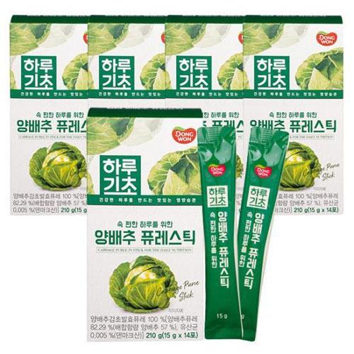 [동원] 하루기초 양배추 퓨레스틱 (15gx14포) X 5개