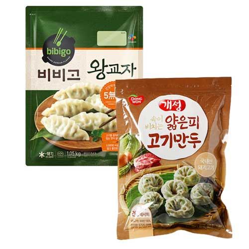 [CJ] 비비고 왕교자 1.05kgx2 + [동원] 개성얇은피 김치만두 1kg