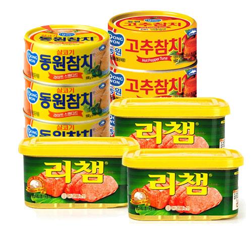 [동원] 라이트스탠다드참치100g*12개+고추참치100g*12개+리챔200g*3개