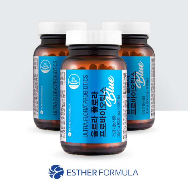 [여에스더] 울트라 플로라 프로바이오틱스 블루 650mg*60캡슐(3병)